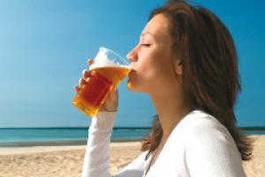 Hop szklankę piwa...