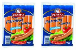 Nowe opakowania parówek marki Indykpol