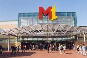 Gigantyczny pożar w centrum handlowym M1 w Zabrzu