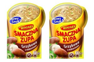 Nowy smak zupy instant - grzybowa z makaronem