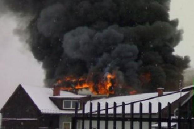 Spłonął hipermarket E.Leclerc w Nowym Targu