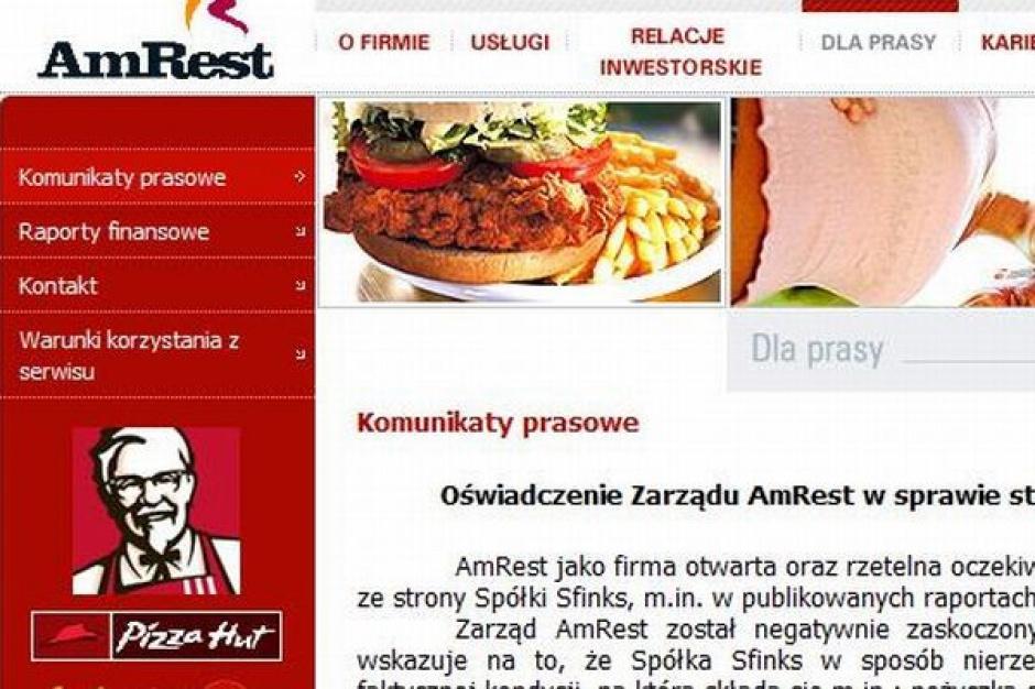 AmRest sprzedał wszystkie akcje Sfinks Polska