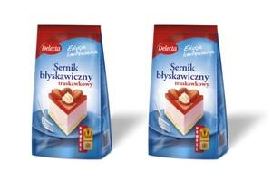 Pierwszy na rynku truskawkowy błyskawiczny sernik na zimno