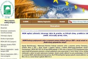 ARiMR: pieniądze dla firm rolno-spożywczych