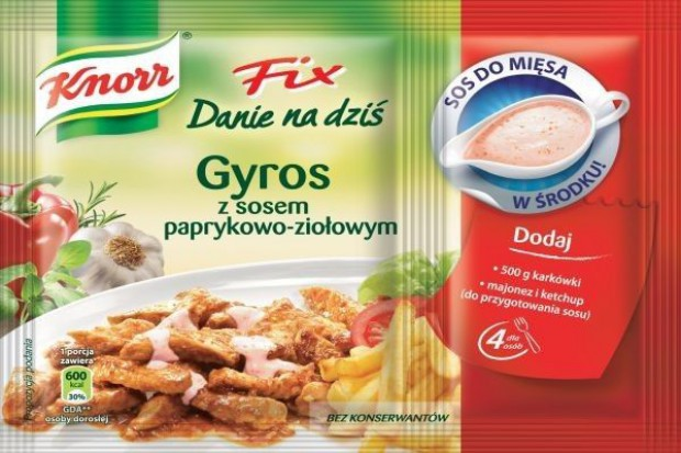 Knorr wprowadza nowe fixy o smaku kebab i gyros