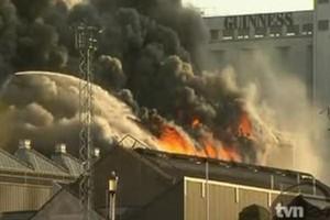 Pożar w zabytkowym browarze Guinnessa