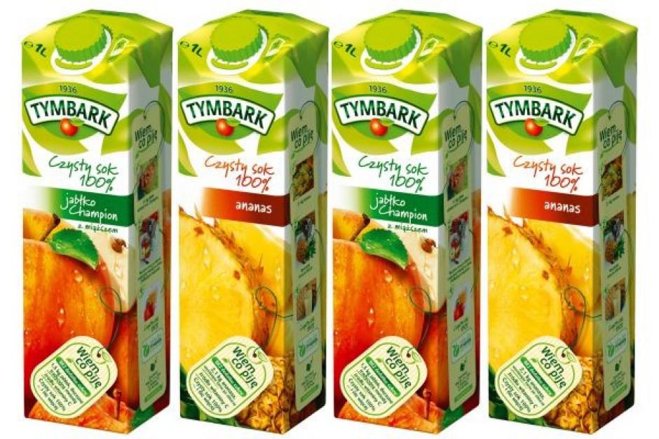 Nowe smaki w ofercie 100-proc. soków Tymbarku