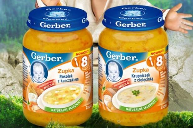 Gerber wprowadza nowe zupki dla dzieci
