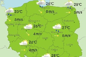 Prognoza pogody na 30 i 31 marca