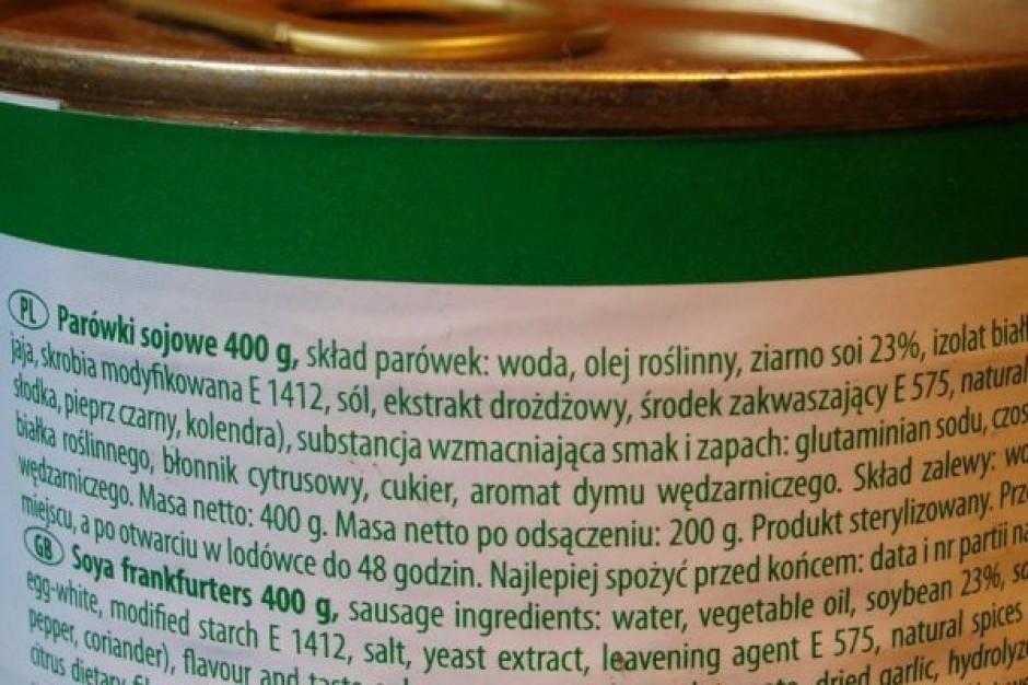 Unia proponuje zmiany na etykietach spożywczych produktów