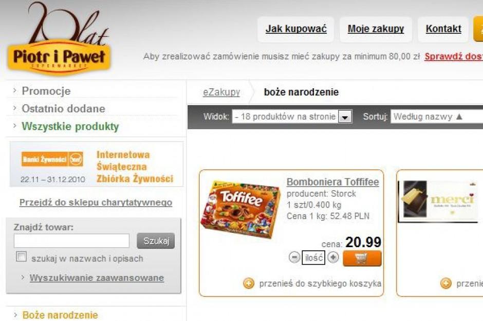 Rynek e-sklepów spożywczych wzrośnie w pięć lat do 1,7 mld zł