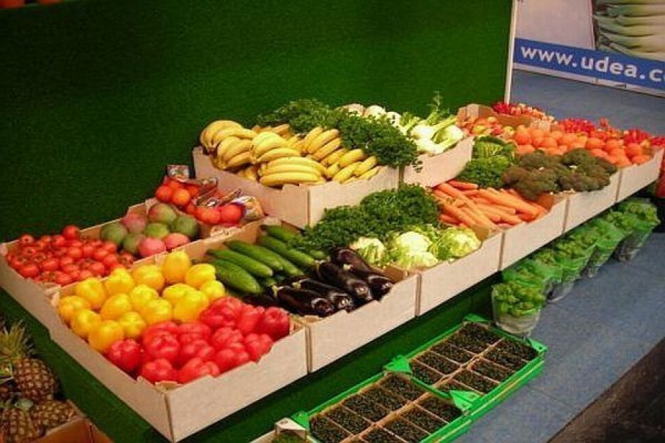Niższe zbiory warzyw i owoców