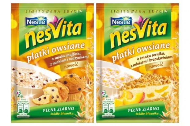 Płatki o smaku muffinki i o smaku sernika w ofercie Nesvity