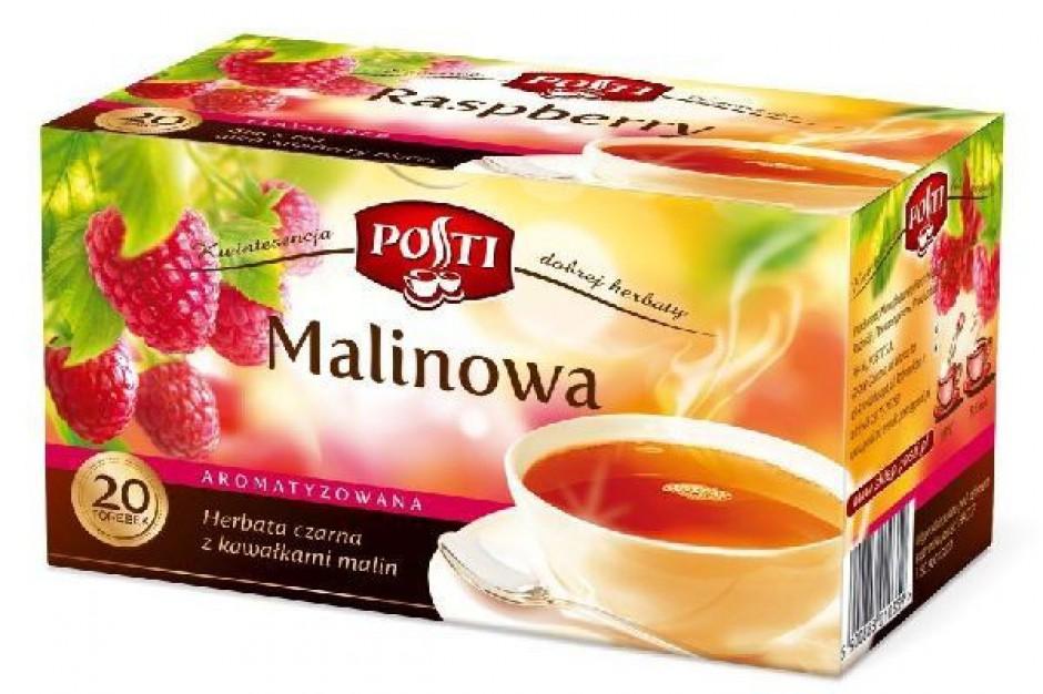Herbata czarna z kawałkami malin Posti