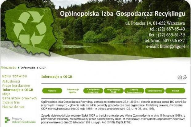 Prezes OIGR: Problemem recyklingu jest słabe prawo