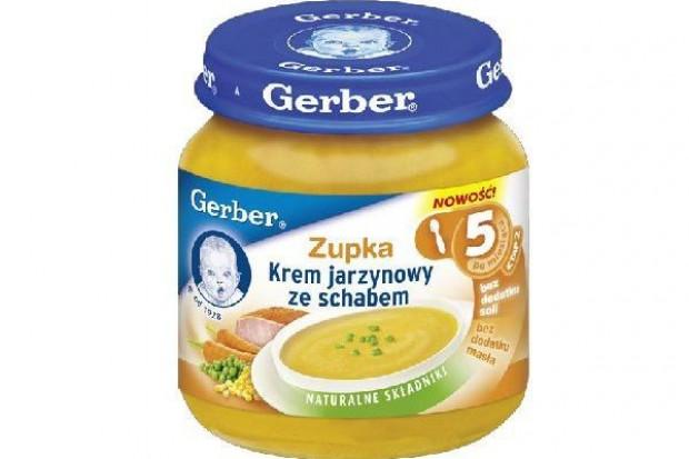 Gerber wprowadza nowe obiadki i zupki ze schabem i wołowiną