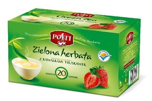 Zielona herbata z truskawkami