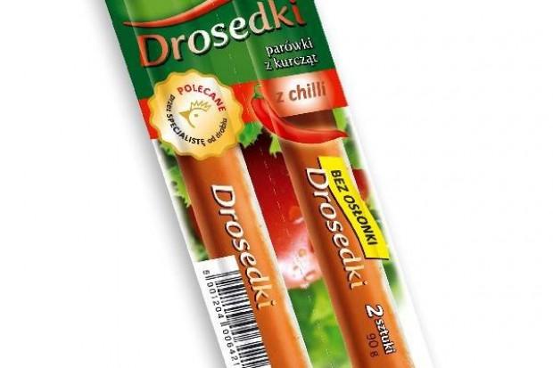 Parówki z chilli i ze zmniejszoną zawartością soli od Drosedu