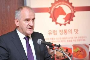 """Konferencja prasowa kampanii """"Tradycja, jakość i europejski smak"""" w Seoulu"""