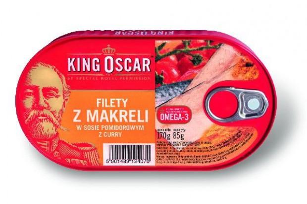 Filety z makreli w sosie pomidorowym z curry marki King Oscar