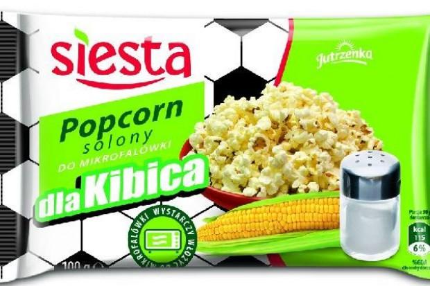 Popcorn do mikrofalówki Siesta z piłkarskich motywem