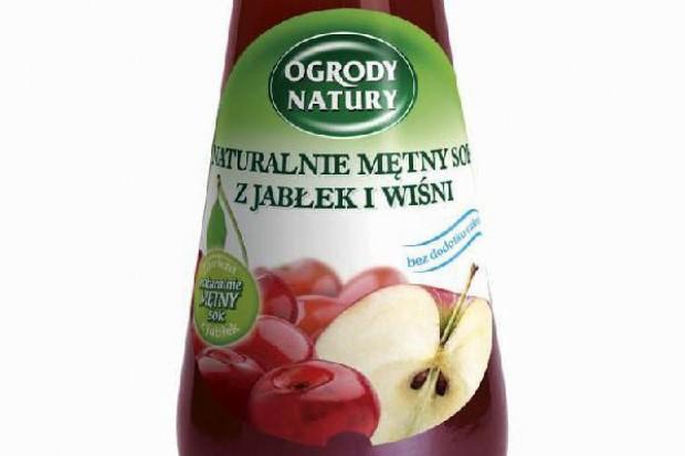 Orzeźwiający mętny sok jabłko-wiśnia