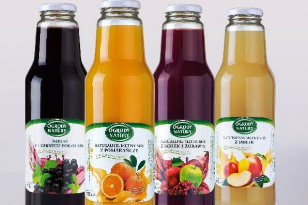 Świeże soki Ogrody Natury w rodzinnej butelce