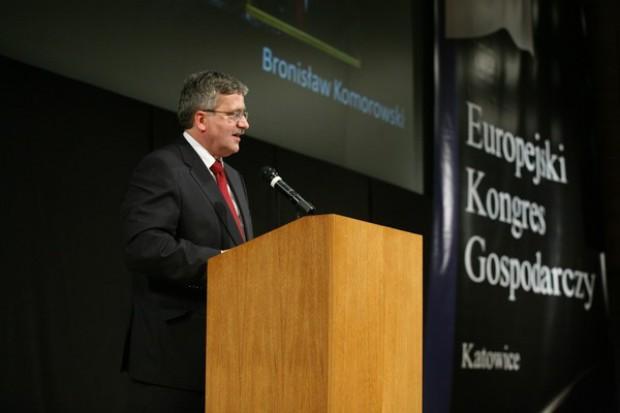 Prezydent RP Bronisław Komorowski otworzył IV Europejski Kongres Gospodarczy w Katowicach