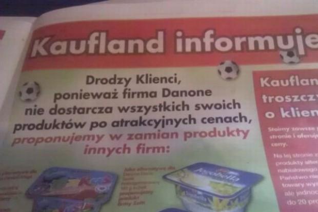 Kaufland rezygnuje ze współpracy z Danone. Promuje inne marki