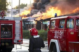Pożar supermarketu Grupy Muszkieterów w Wągrowcu