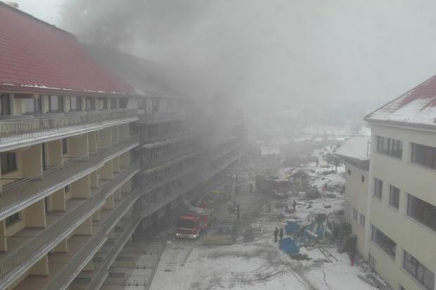 Pali się Hotel Gołębiewski w Mikołajkach