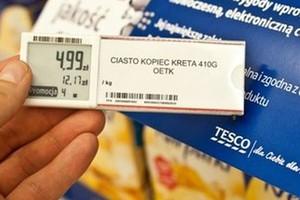Tesco wprowadza elektroniczne etykiety. Koniec pomyłek przy sklepowej kasie