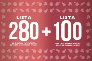 280 + 100 największych spółek przetwórstwa owocowo-warzywnego - edycja 2013