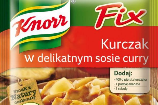 Fix do kurczaka w delikatnym sosie curry od Knorra