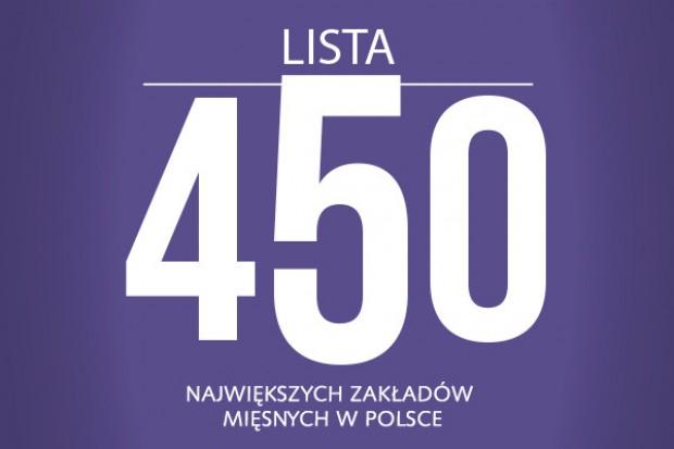 Lista 450 największych zakładów mięsnych w Polsce - edycja 2014