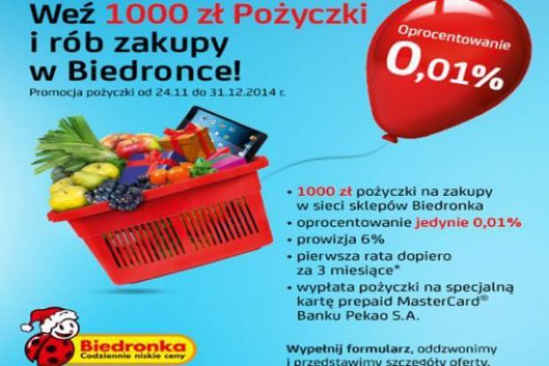 Bank Pekao pożycza pieniądze na zakupy w Biedronce