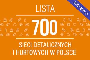Lista 700 sieci detalicznych i hurtowych w Polsce (2013/2012)