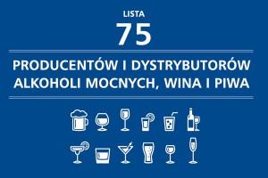 Lista 75 producentów i dystrybutorów alkoholi mocnych, wina i piwa - edycja 2015