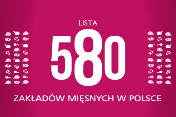 Lista 580 zakładów mięsnych w Polsce (nowa edycja 2013/2012)