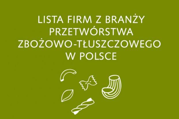 Lista firm z branży przetwórstwa zbożowo-tłuszczowego - edycja 2015
