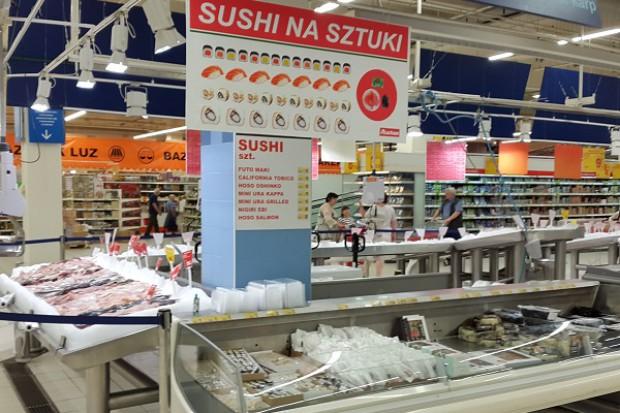 Auchan odmienia stoisko z sushi