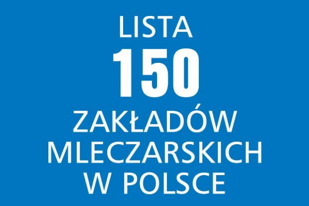 Lista 150 zakładów mleczarskich w Polsce (2013/2012)