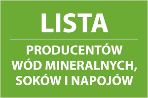 Lista producentów wód mineralnych, soków i napojów - edycja 2015