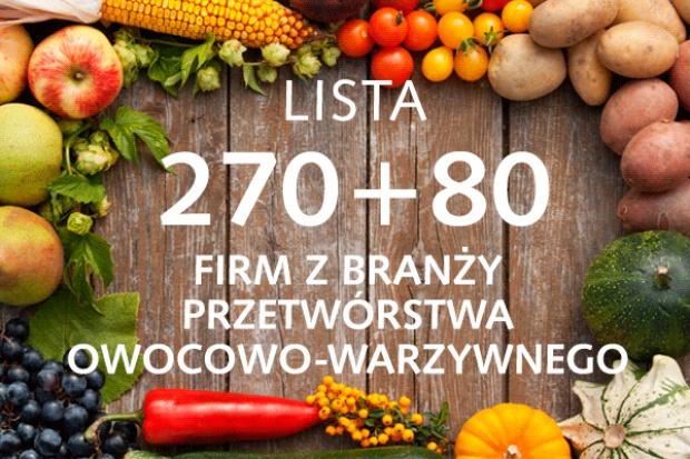 Lista 270+80 firm z branży przetwórstwa owocowo-warzywnego - edycja 2015