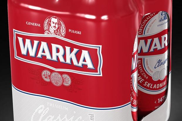 Piwo Warka w nowej szacie graficznej