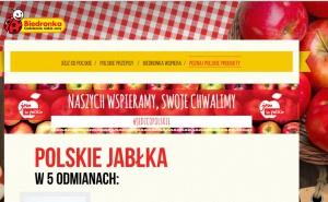Biedronka promuje polskie jab艂ka i gruszki
