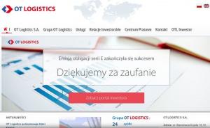 OT Logistics zapowiada inwestycje w portach