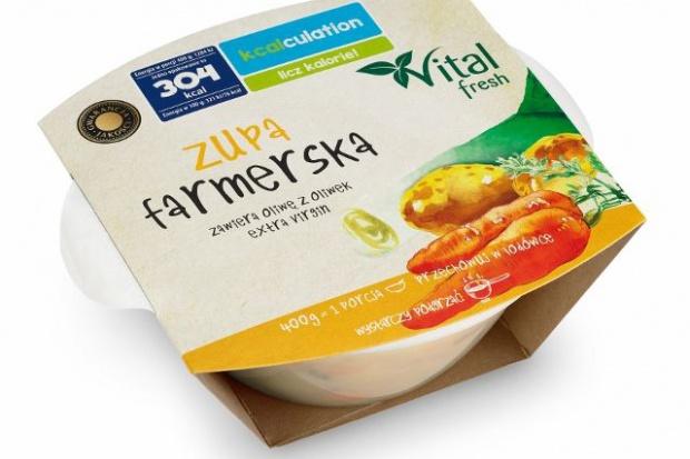 """Biedronka rozszerza asortyment produktów """"kcalculation – licz kalorie!"""" o zupy pod marką Vital fresh"""