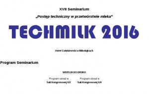 Techmilk 2016 – pełna relacja