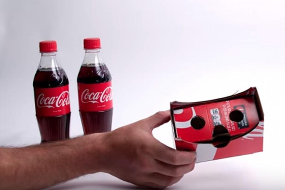 Coca-Cola zaprojektowała opakowania, które można zmienić w innowacyjne gogle